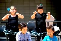 Elementary school dancers
