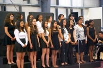 School choir performing at the festival