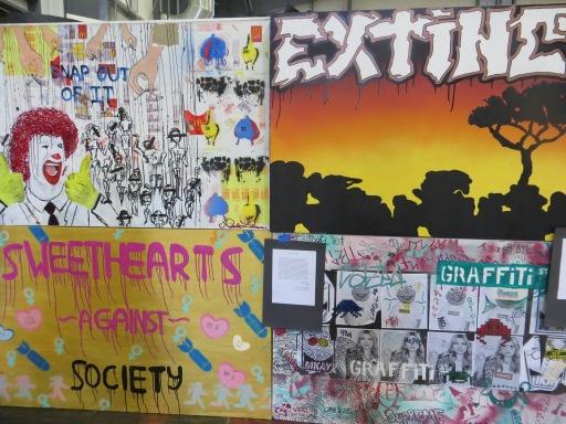 Gallery presenting featured students' original artpieces