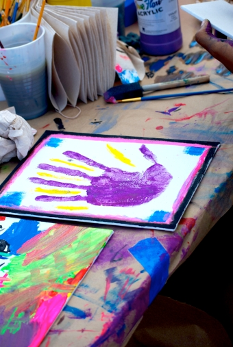 One of the artpieces produced at an activity booth