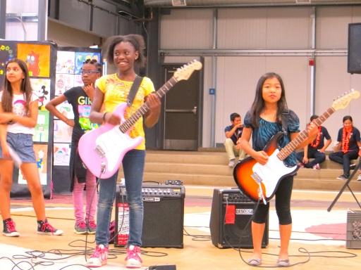 Elementary school musical performers