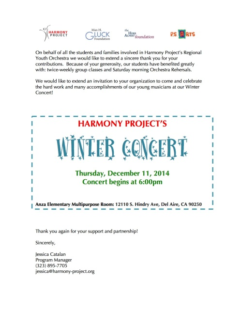 Winter Concert 2014 flyer